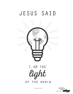 I am the light of the world printable