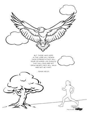 Wings Like Eagles Printable