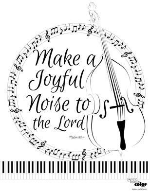 Make a joyful noise printable