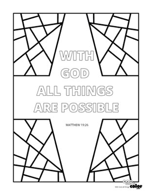 With God All Things Are Possiible printable